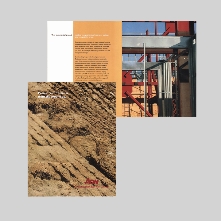graphic-design-brochures-Aon Construction Services